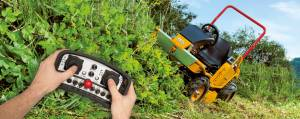 High grass ride on mower with remote control (RC mower)
